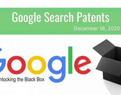 Google Search Patent Update – December 18, 2020